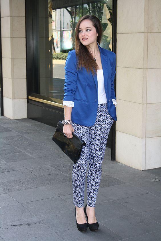 Outfits Con Color Azul Rey (24) - Curso De Organizacion Del Hogar