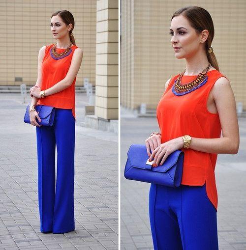 Outfits Con Color Azul Rey (25) - Curso De Organizacion Del Hogar