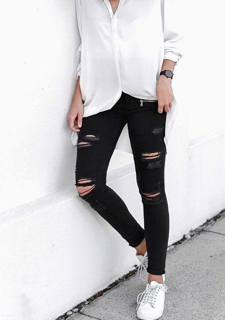 Outfits Con Jeans Rotos (3) - Curso De Organizacion Del Hogar Y Decoracion De Interiores