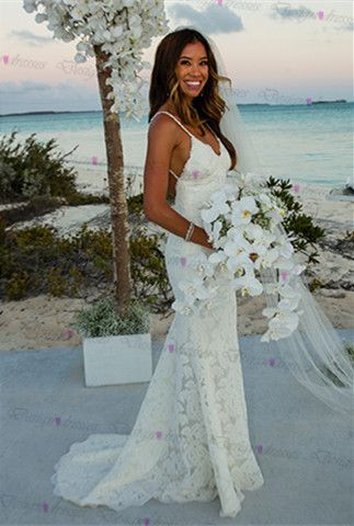 Trajes de novia boda en la playa