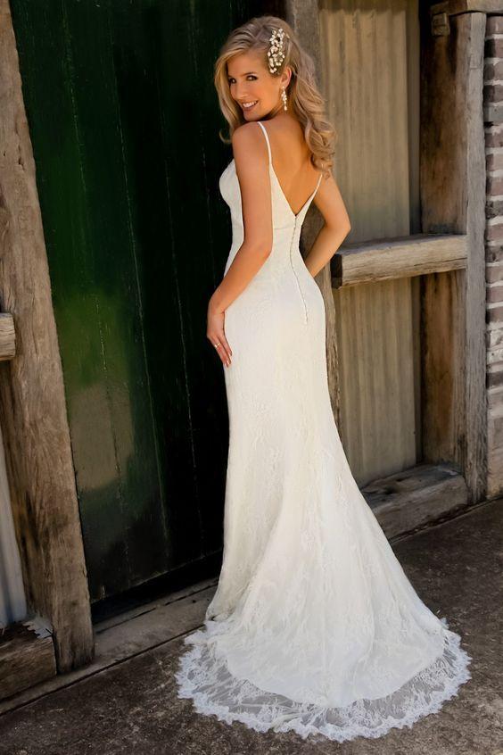Vestidos novia bodas playa