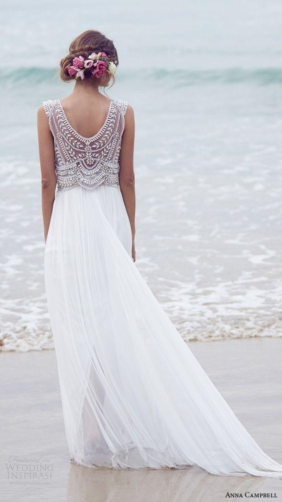 Vestidos casuales para bodas en la playa