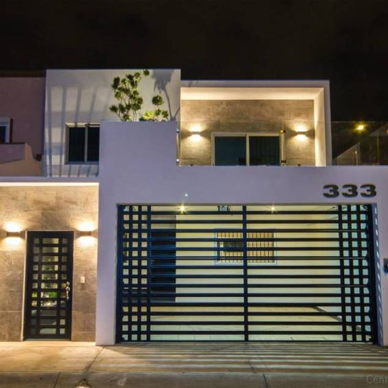 Cercos de herrer a ideas para el dise o de tu fachada for Casa moderna jardin d el menzah