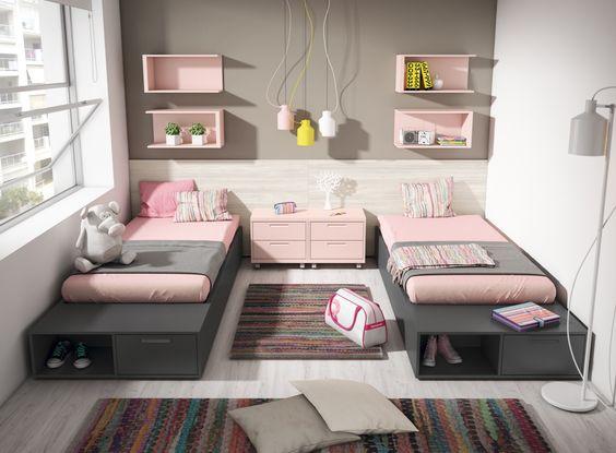 Ideas para decorar y organizar habitacion compartida 27 for Organizar habitacion