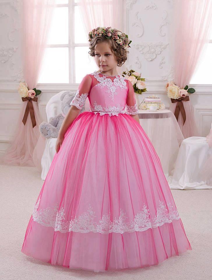 Vestidos de niña para fiestas y eventos elegantes - Curso de ...