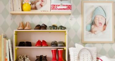 15 formas de organizar zapatos infantiles