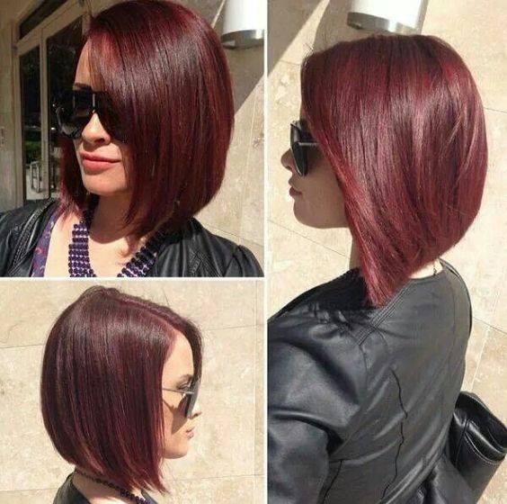 Cabello corto con diferentes tonos de rojo (15)