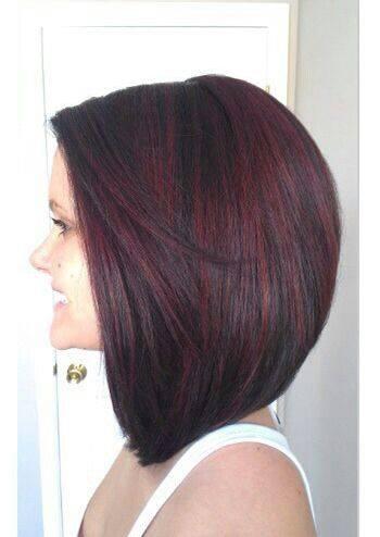 Cabello corto con diferentes tonos de rojo (5)