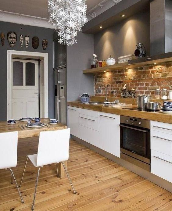 Cocinas con paredes de ladrillos (8) - Curso de Organizacion del ...