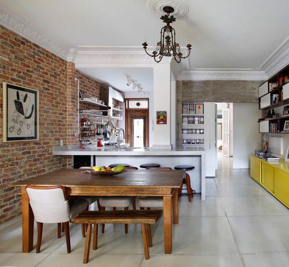 Cocinas con paredes de ladrillos   curso de organizacion del hogar