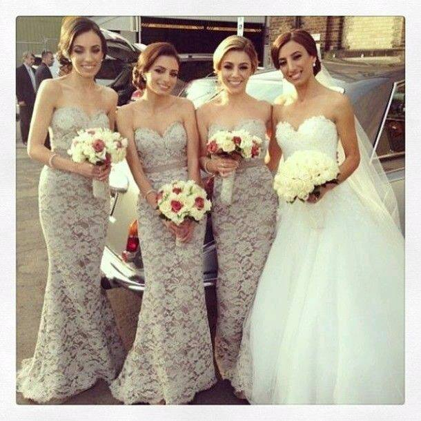66e31567d Vestidos para damas de honor color gris – Los vestidos de noche son ...