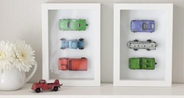Como organizar y decorar con carros de juguete