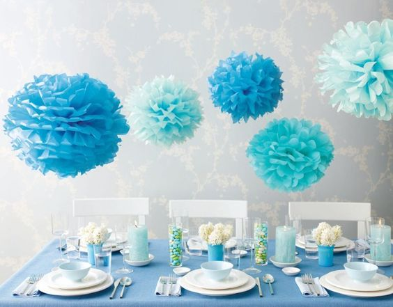 Decoracion de baby shower en azul curso de organizacion for Decoracion casa shower