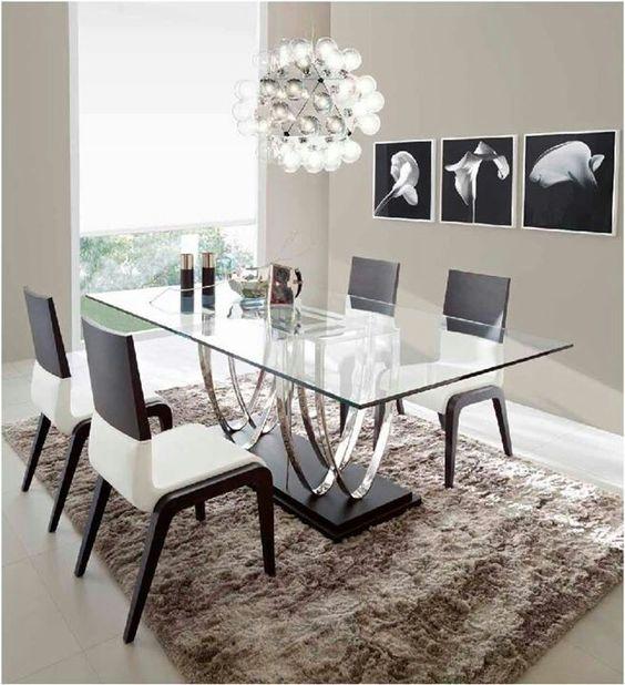 Decoracion de comedores con mesas de cristal 22 curso for Comedores de cristal df