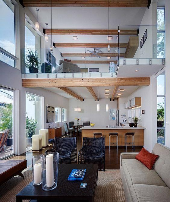 dise o de casas con espacios a doble altura planlife