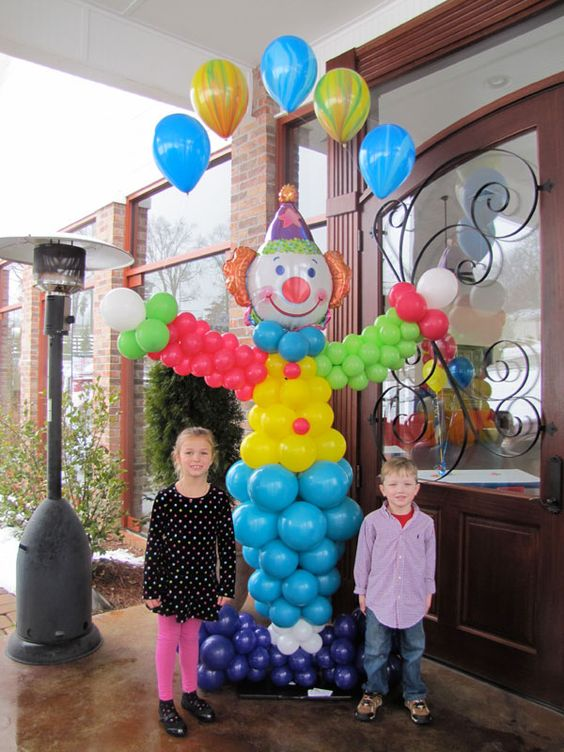 Decoracion de fiesta payasos con globos curso de for Decoracion y organizacion del hogar