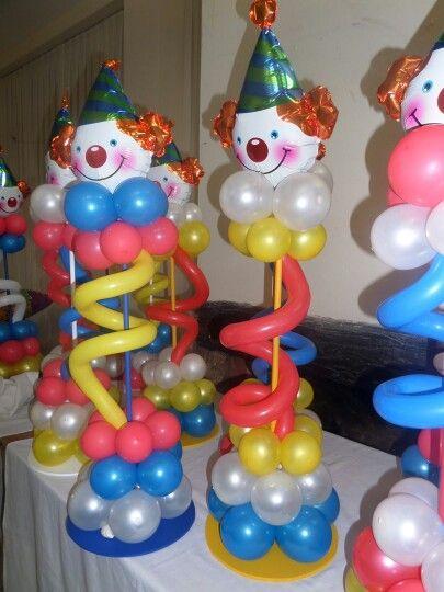 Decoracion de fiesta payasos con globos 10 curso de Ornamentacion con globos
