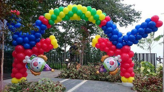 Decoracion de fiesta payasos con globos 12 curso de Ornamentacion con globos