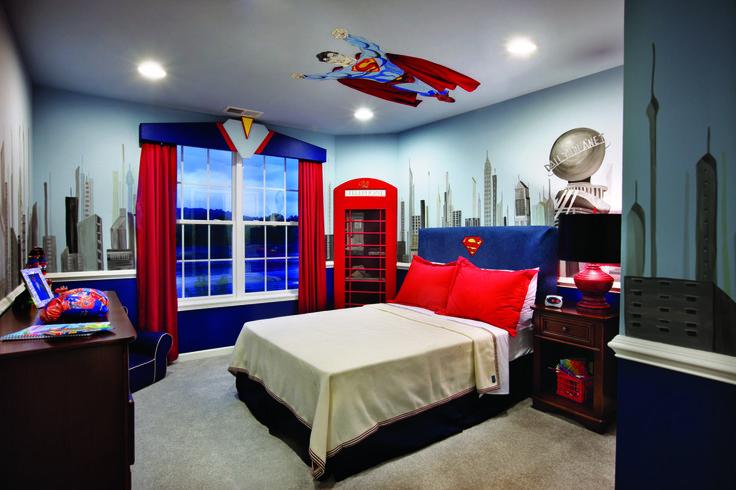 decoracion de habitacion infantil super heroes 14
