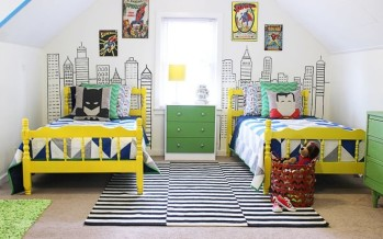 Decoracion de habitacion infantil super heroes