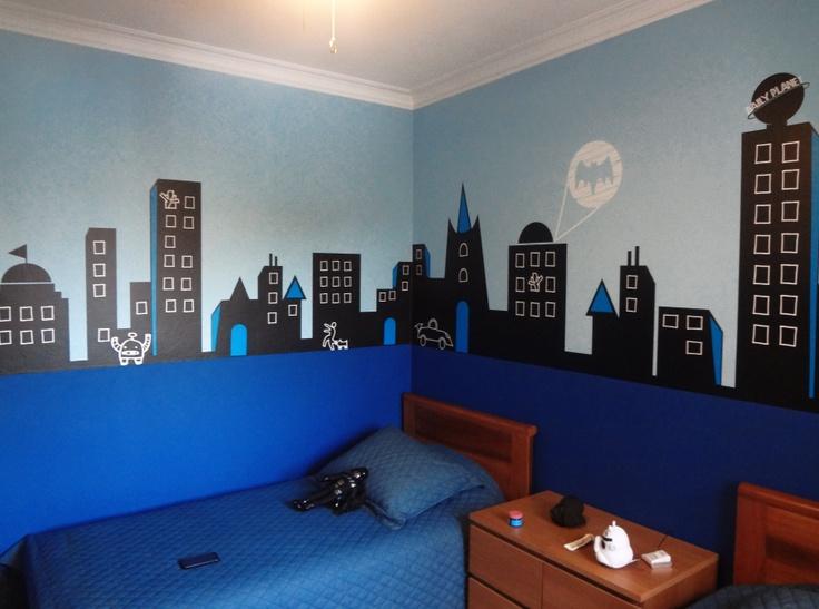 decoracion de habitacion infantil super heroes 16