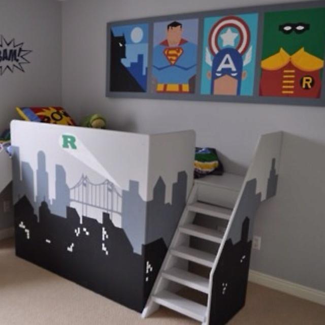 Decoracion de habitacion infantil super heroes 19 - Organizacion habitacion infantil ...