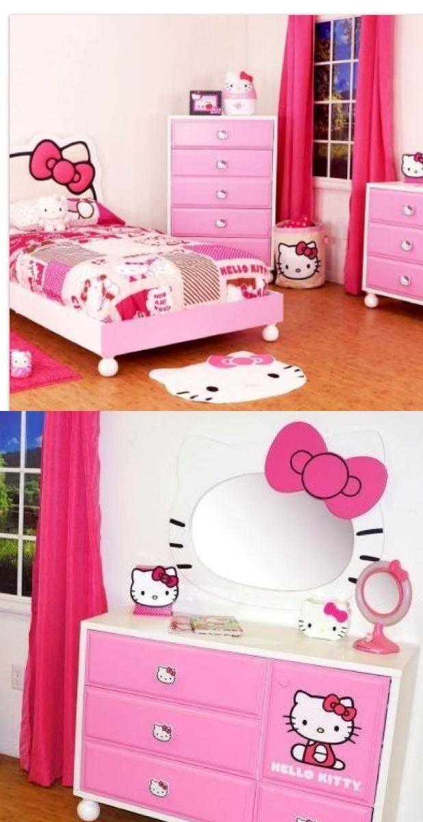 Decoracion de habitacion para ni a de hello kitty 11 for Cuarto para nina hello kitty