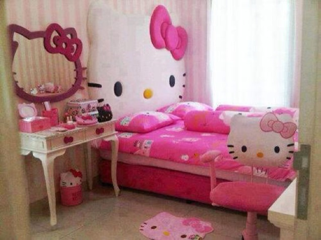 Decoracion kitty habitaciones - Decoracion dormitorio nina ...