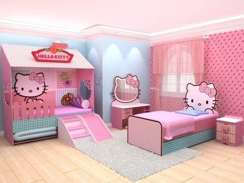 Decoracion de habitacion para ni a de hello kitty curso for Decoracion de interiores para ninas