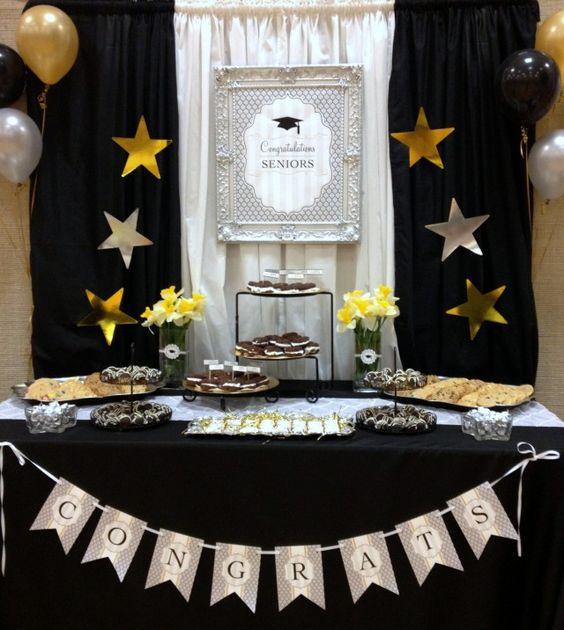 Decoracion de mesa de postres para graduacion 6 curso - Decoracion party ...