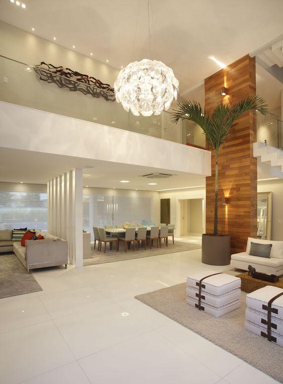 Decoracion de sala y comedor en espacios grandes 11 for Decoracion de espacios de interiores