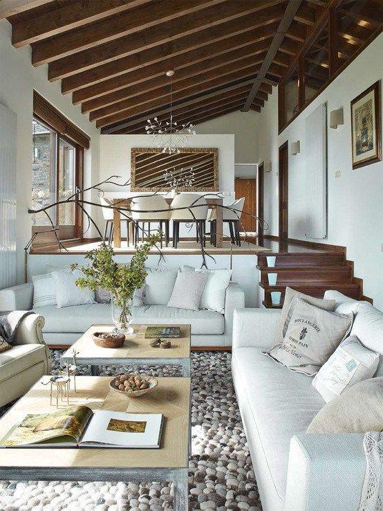 Decoracion de sala y comedor en espacios grandes 4 for Salas grandes decoracion