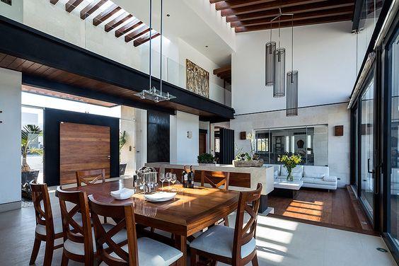 Decoracion de sala y comedor en espacios grandes 6 for Estilos de arquitectura contemporanea