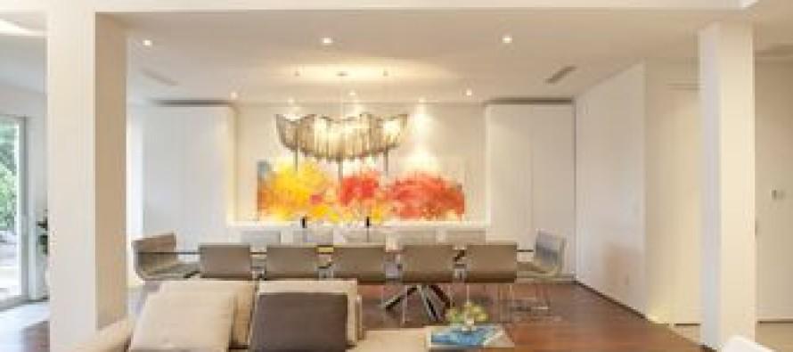 Decoracion de sala y comedor en espacios grandes curso for Salas grandes decoracion