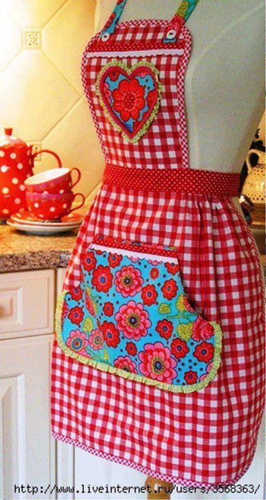 Delantales para la cocina modernos 10 curso de - Telas de cocina ...