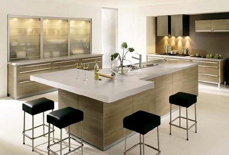 Desayunador en la cocina curso de organizacion del hogar for Cocinas modernas pequenas para apartamentos con desayunador