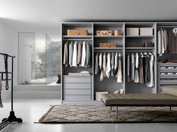 Dise os de closets modernos 12 curso de organizacion for Disenos de zapateras para closet