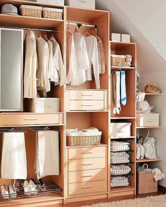 Dise os de closets peque os 15 curso de organizacion Diseno de interiores closets modernos