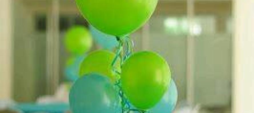 Ideas de centros de mesa con globos