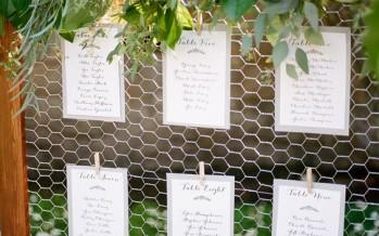 Ideas para designar lugares en bodas