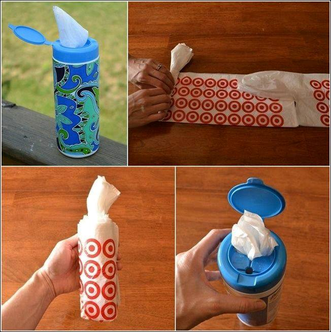 Ideas para guardar bolsas de plastico 19 curso de - Guardar bolsas plastico ...