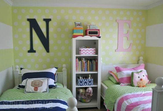 Ideas para habitaci n compartida de ni a y ni o 2 for Ideas para decorar habitacion compartida nino nina