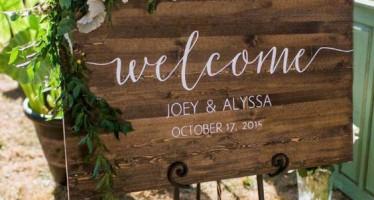 Letreros de bienvenida para bodas