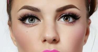 Maquillaje con labios rosa