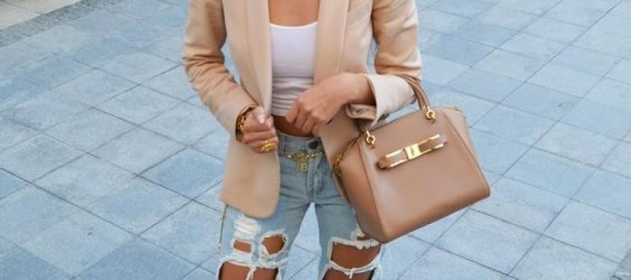 Outfits con blazer beige