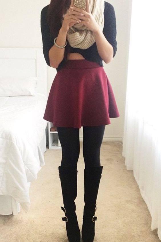 Outfits En Color Vino