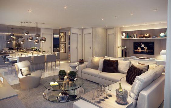 Salas de tv para espacios grandes 6 curso de for Salas grandes decoracion