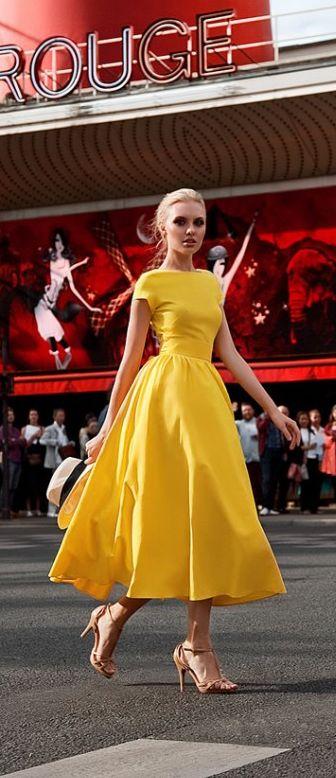 42ebb6b5a0 Vestidos de coctel en color amarillo - Curso de Organizacion del hogar y  Decoracion de Interiores