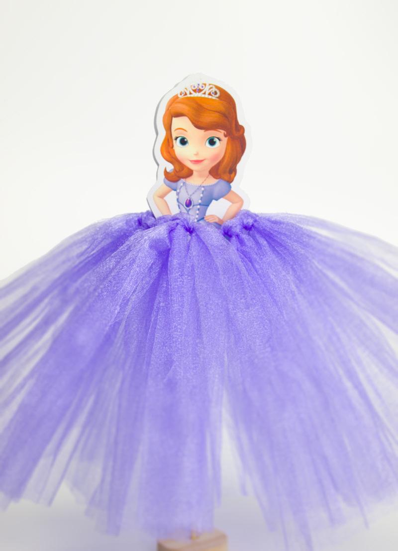 centros de mesa de princesas con vestidos de tul (15) - Curso de ...