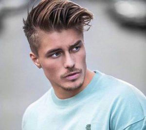 cortes de cabello para hombres franja ondulada + alto desvanecimiento - wavy fringe + high fade